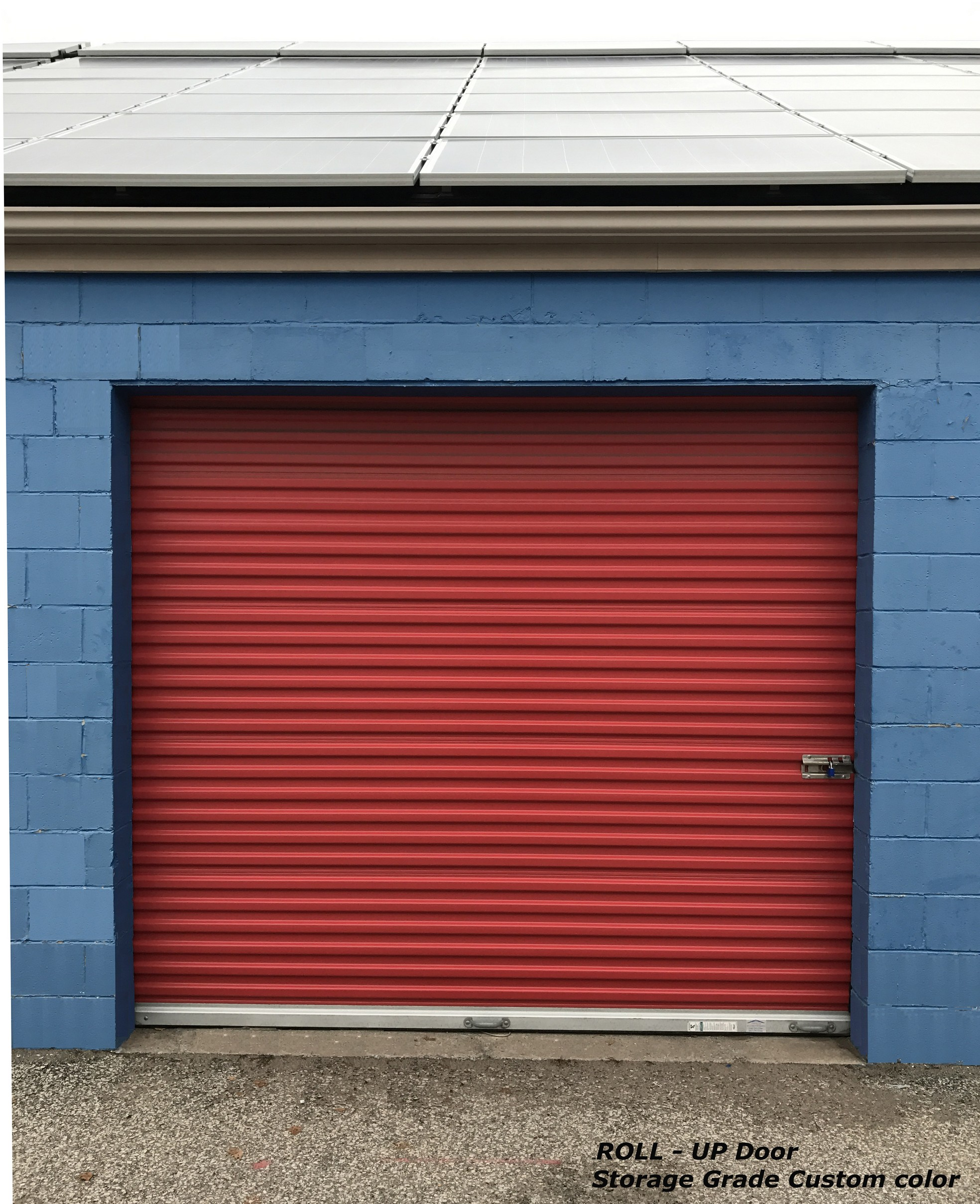 rollup coated roll door up doors garage powder